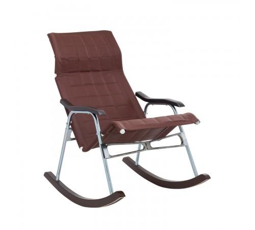 """Кресло-качалка складная """"Белтех"""", к/з коричневый - интернет магазин"""