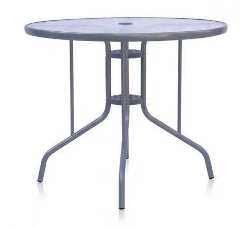 Стол D90 Silver metallic