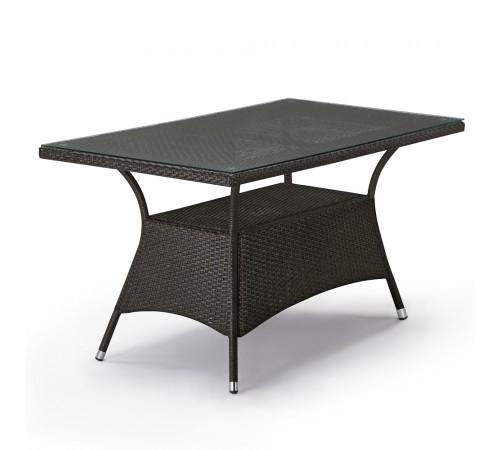 Плетеный стол T198A-W53-140x80 Brown