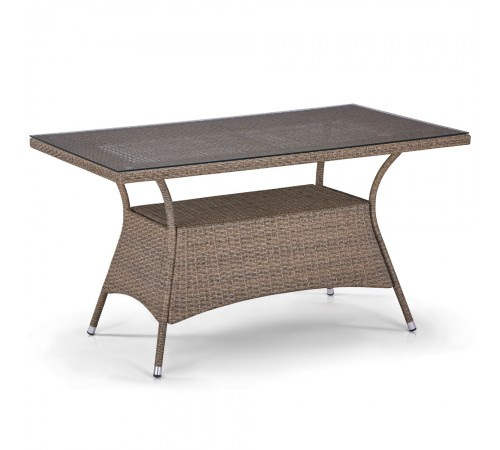 Плетеный стол T198B-W56-140x80 Light brown