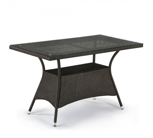 Плетеный стол T198D-W53-130x70 Brown