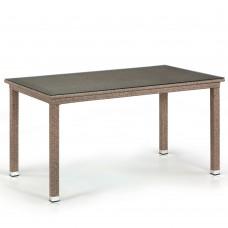 Плетеный стол T256B-W56-140x80 Light Brown