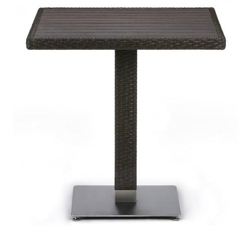 Плетеный стол T607D-W53-70x70 Brown
